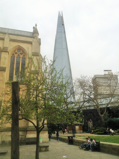 Southwark Cathedral and the shard, London photo by modern bric a brac