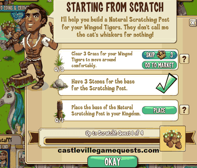 Castleville Game Up to Scratch Quests