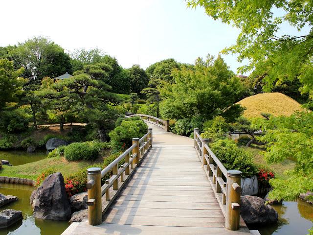 modelo de ponte para jardim japonês; jardim japones