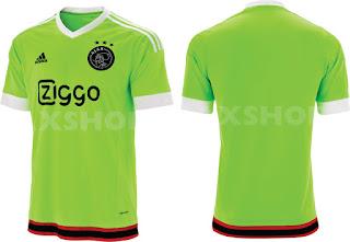 gamabr detail desain terbar jersey musim depan Jersey Tandang Ajax 2015/2016