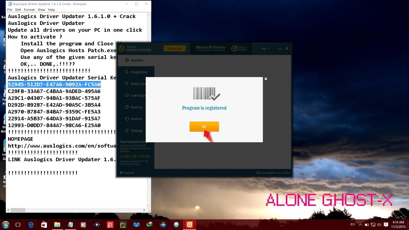 auslogics driver updater 1.13 serial