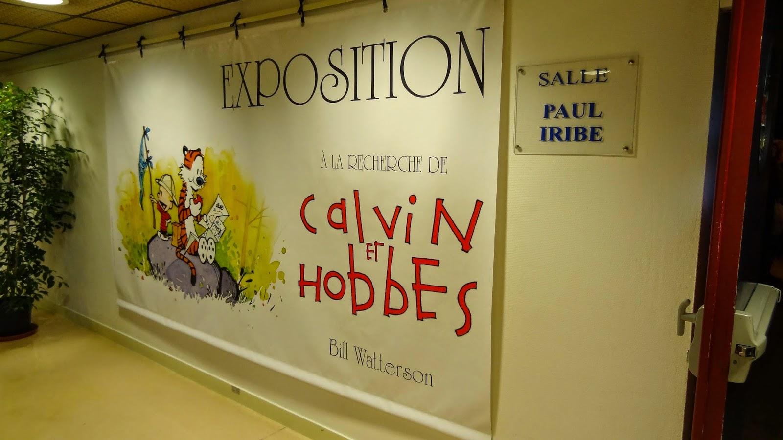 Expo Watterson Calvin et Hobbes, Angoulême FIBD 2015, Affiche