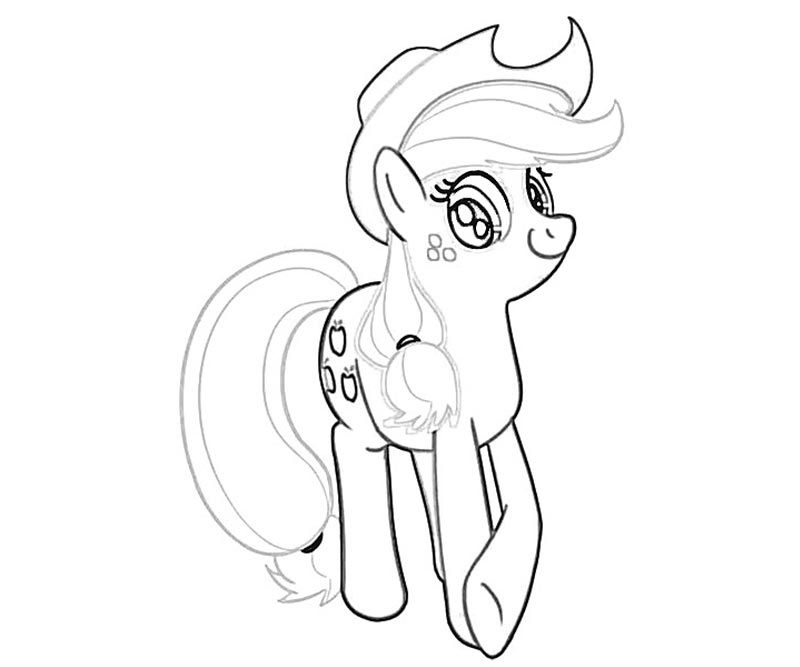 #14 My Little Pony Applejack Coloring Page