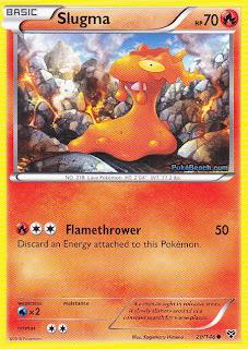 Slugma Pokemon X and Y Card