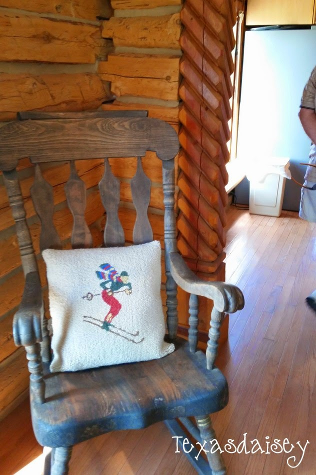 Historic log cabin details on Angel Fire Garden and Cabin Tour Part 4