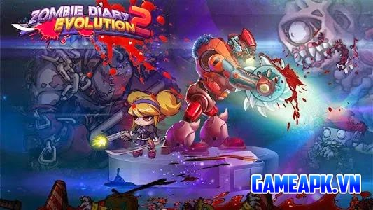 Zombie Diary 2: Evolution v1.0.9 hack full tiền cho Android