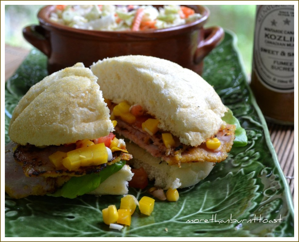An Ode To Ontario, Family And Friends With Peameal Bacon On A Bun With Corn  Relish