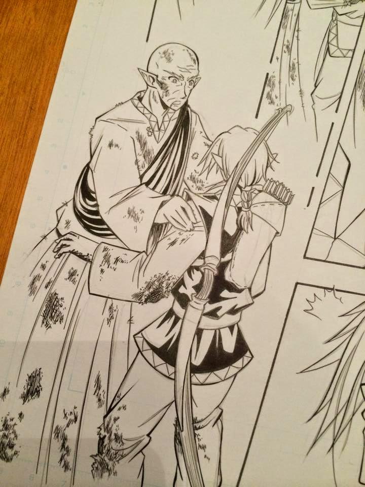 wip disegno illustrazione manga elena toma