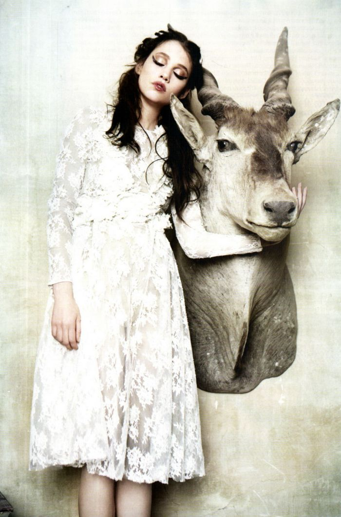 fashion,editorial,deer,ellen von unwerth