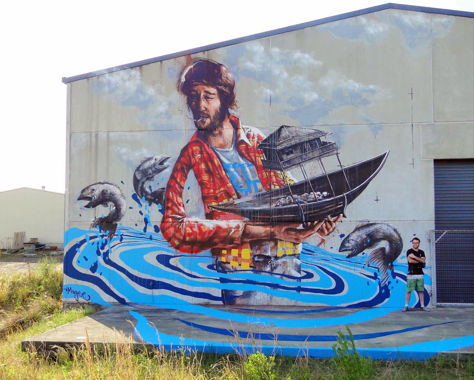 Fintan magee new street art coffs harbour australia for Australian mural