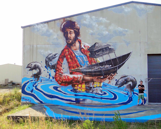 Street Art By Australian Street Artist Fintan Magee On The Streets Of Coffs Harbour, Australia. 1