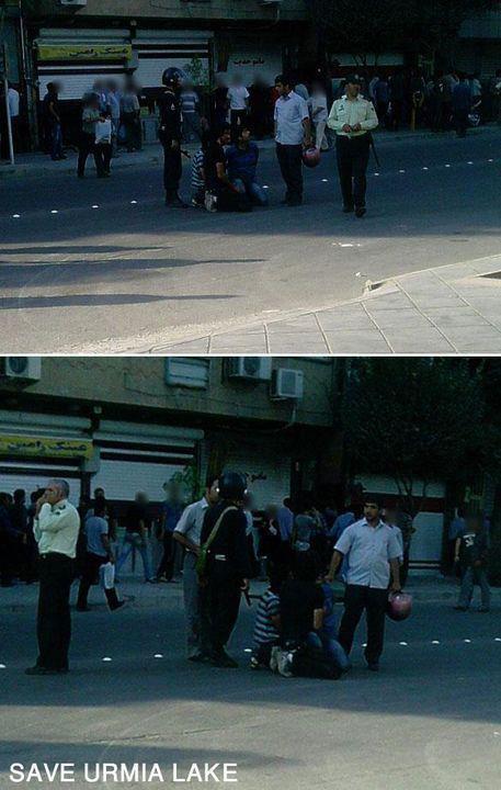 دستگیری ، جوانان ، ارومیه ، آذربایجان ، بسیج ، نیروی انتظامی ، دریاچه ارومیه