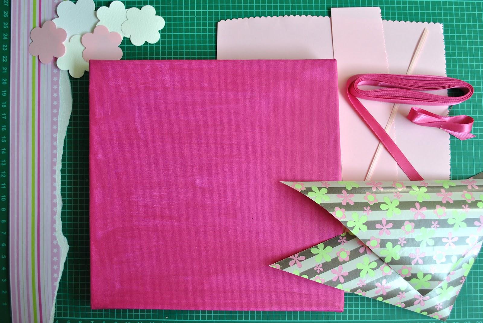 Various Art: Scrapbook-Keilrahmen in rosa