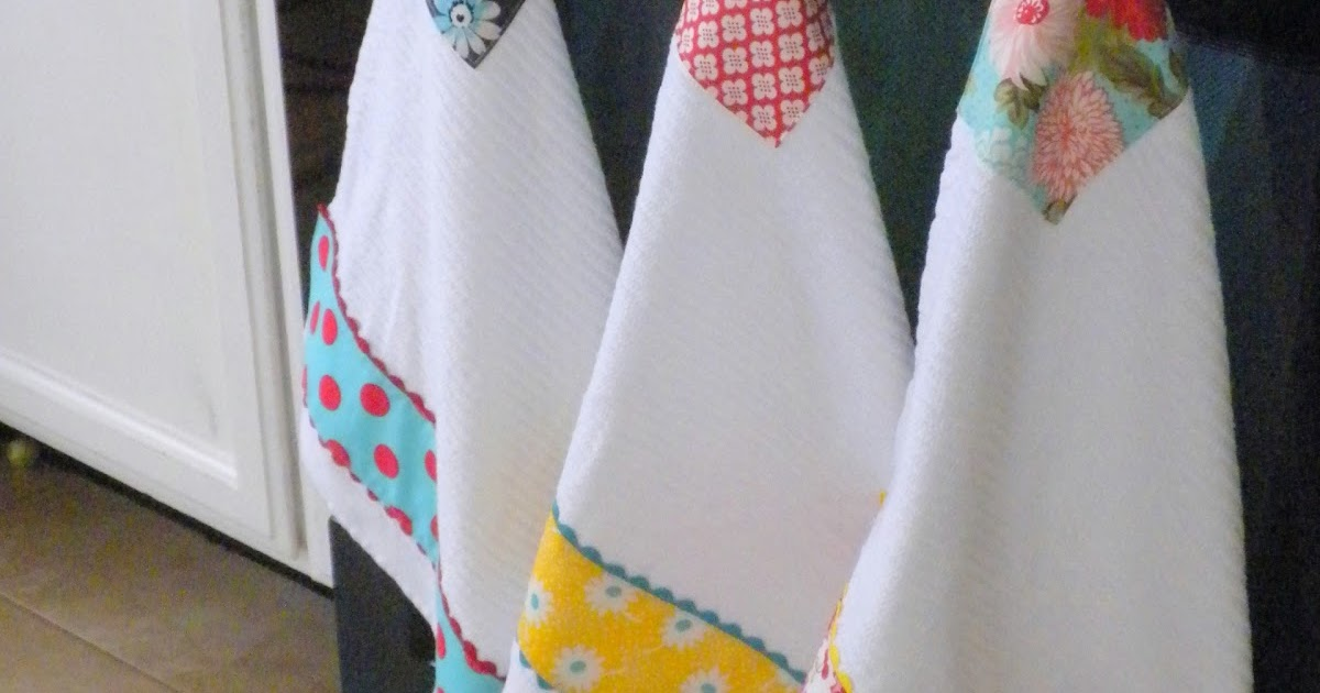 jedi craft girl kitchen towel makeover