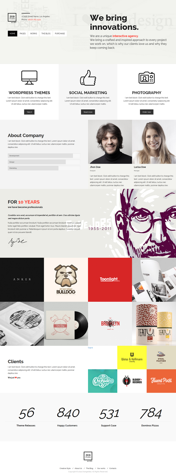 Premium Portfolio and Business WP Theme