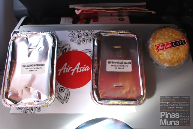 Philippines AirAsia Santan Inflight Menu