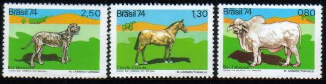1974年ブラジル連邦共和国 ブラジリアン・マスティフの切手