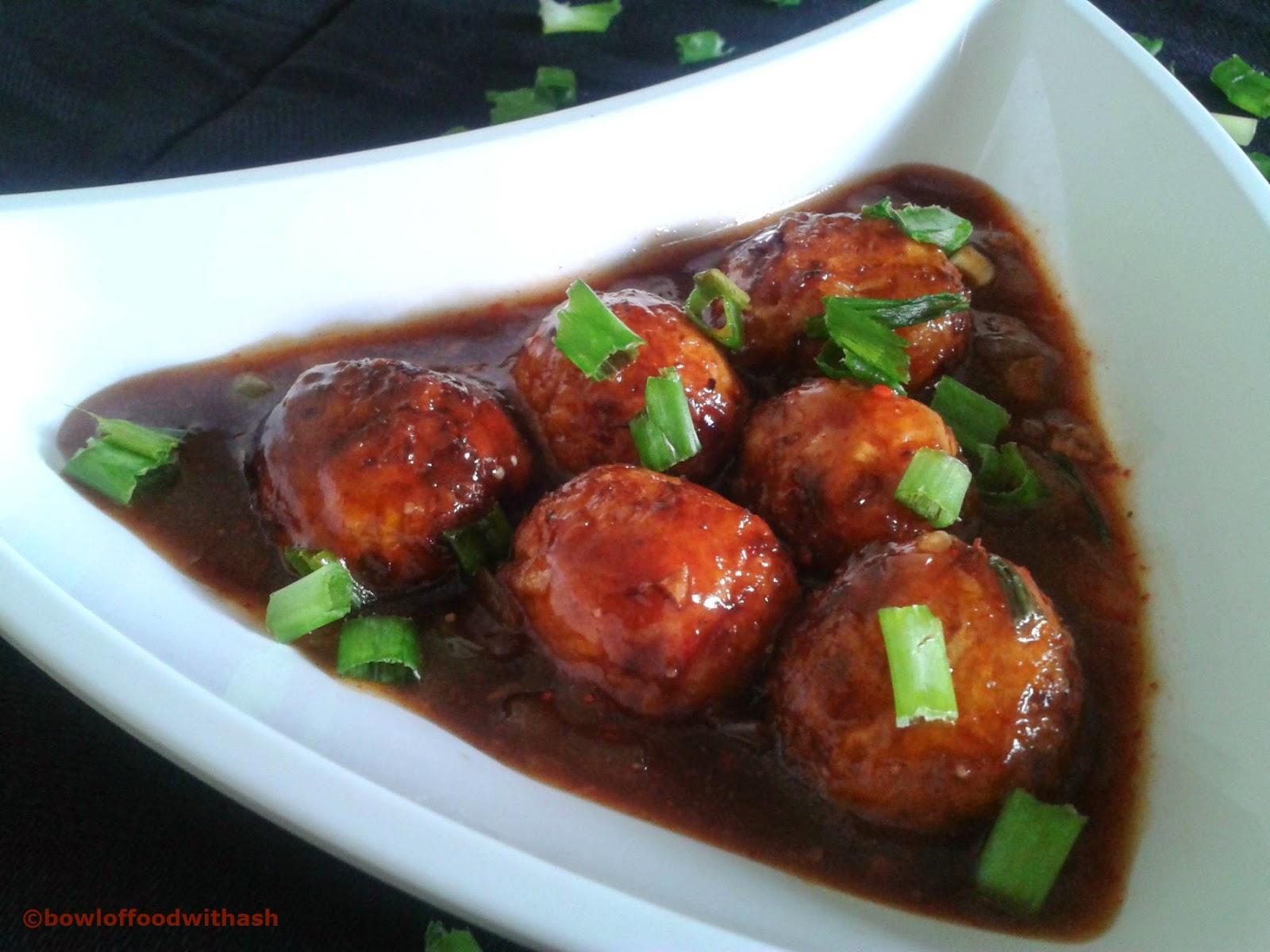 ... Of Food With Ash: Veg Manchurian Recipe | How to make Veg Manchurian