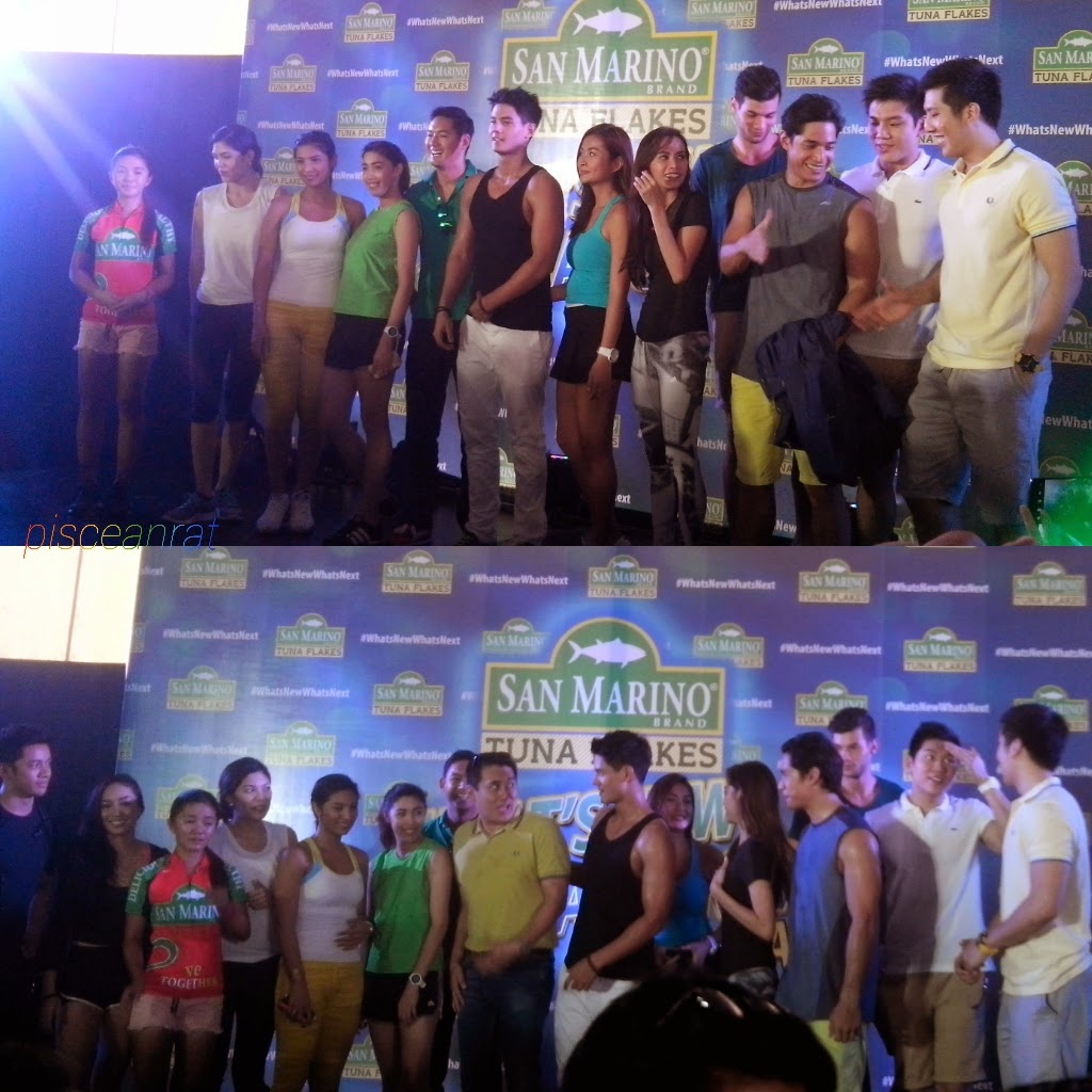 Present as well in the San Marino Tuna Flakes' launch are fit & fab celebrities like young   basketball superstars Jeric and Jeron Teng, Dela Salle Archers' Big Man Arnold van Opstal and   lady spiker Mika Reyes, hunks Marc Nelson and Victor Basa, actress-models Phoemela Baranda   and Bubbles Paraiso, showbiz reporters Ginger Conejero and Divine Lee, showbiz daughter Dani   Barretto, and hosts Nikko Ramos and Katz Salao.