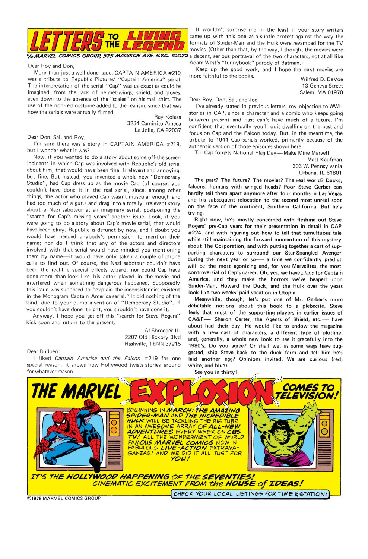 Captain America (1968) Issue #222 #136 - English 19