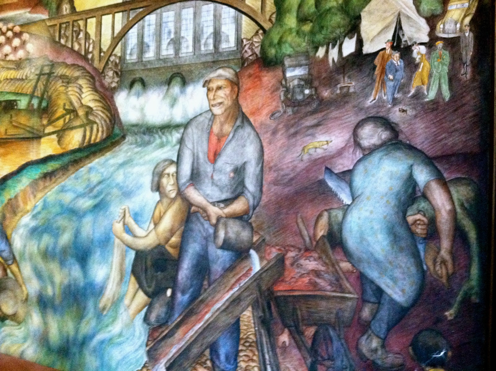 The murals of coit tower pics of the week the world of for Coit tower mural artists