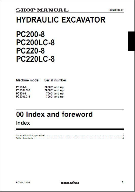 komatsu excavator repair manual how to and user guide instructions u2022 rh taxibermuda co Komatsu PC18 Komatsu Model 630