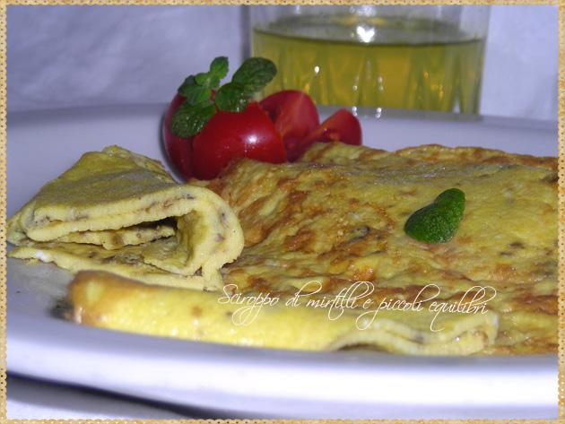 Omelette alle erbe aromatiche e mostarda di Digione alla maniera di Pereira