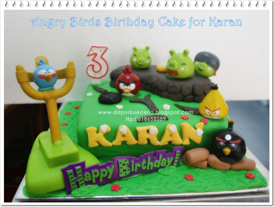 Dapur Kue Ceria: Angry Bird Birthday Cake for Karan
