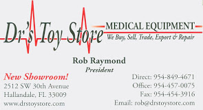 Rob Raymond, President/CEO, DOCTOR'S TOY STORE - FLORIDA'S LARGEST MEDICAL EQUIPMENT SHOWROOM