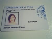 Carnet de Erasmus Universitá de Pisa