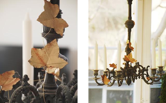 Skab lækker julestemning med ysekrone med forgyldt efeu