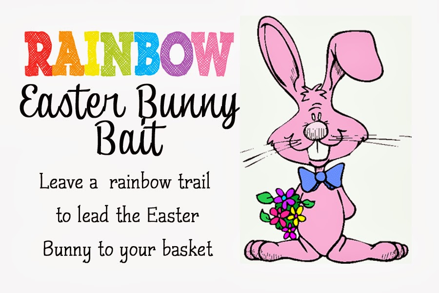 photo about Bunny Bait Printable identified as Rainbow Easter Bunny Bait No cost Printable - Cost-free Period Frolics