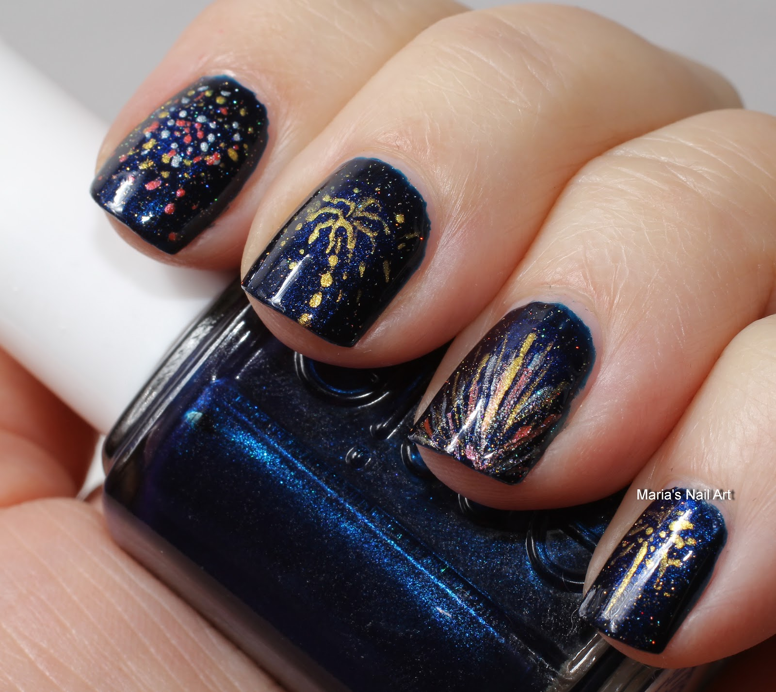 Images of new years nail art : New year artsy wednesday nail art