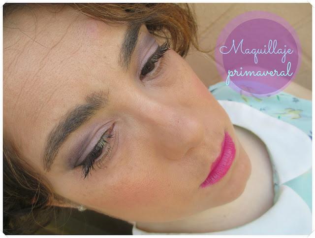 Maquillaje primaveral en tonos rosas y morados