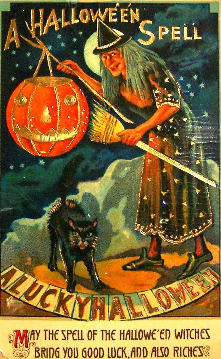 Vintage everyday vintage halloween witch postcards c 1900 s