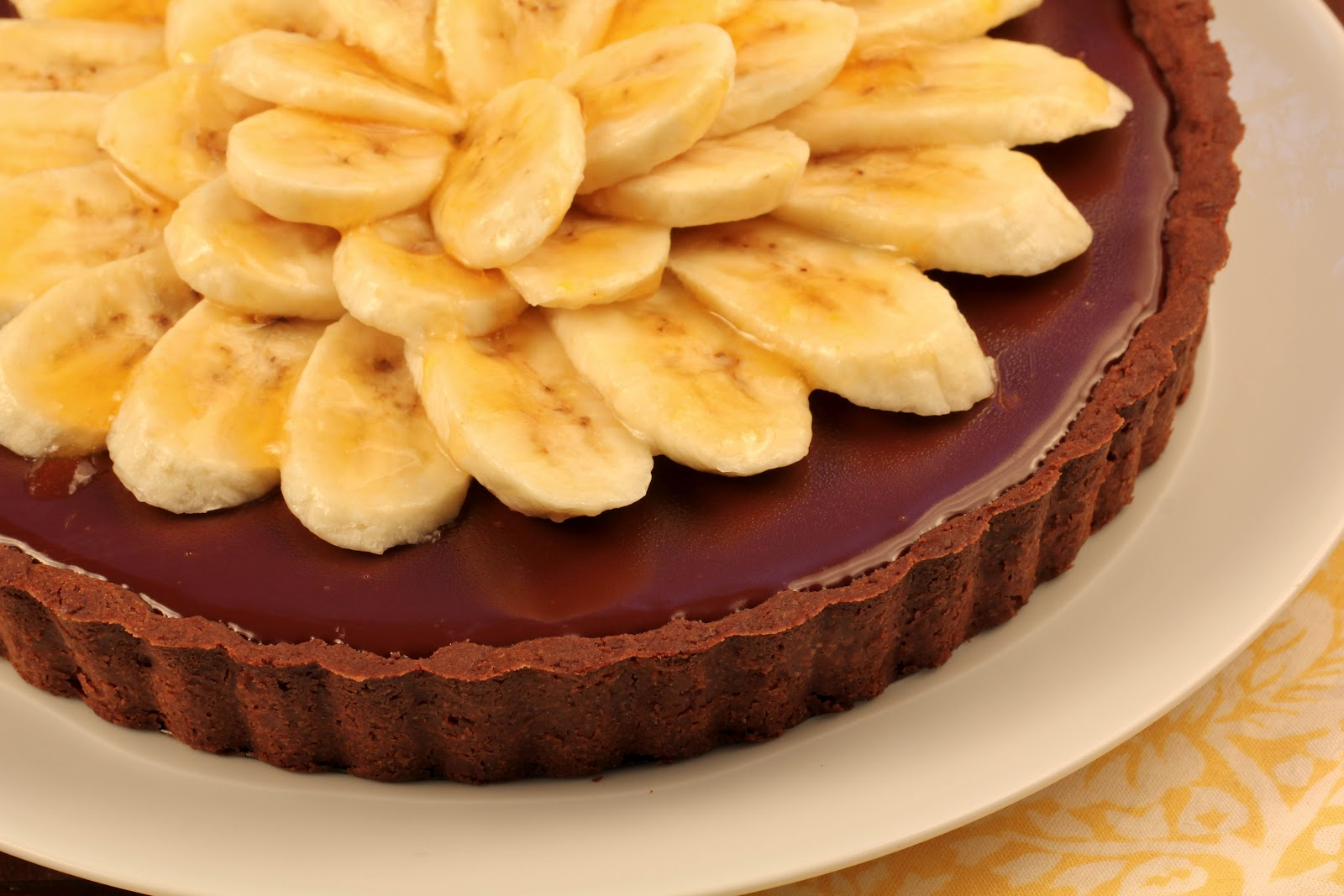 Double Chocolate Banana Tart…French Fridays with Dorie~