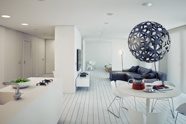 minimalist home design decor, minimalist studio apartment 2015, white interior