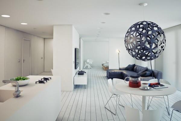 Stylish minimalist home design and decor minimalist homes for Minimalist studio apartment interior design