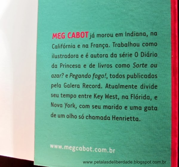 Sobre a autora, Tamanho 42 não é gorda, Meg Cabot, Galera Record, resenha, livro