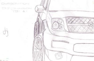 Desenhos Preto e Branco Designer carros bonitos Colorir