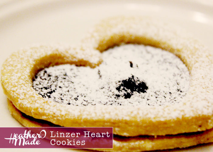 linzer heart cookies. heatheromade. homemade cookies.