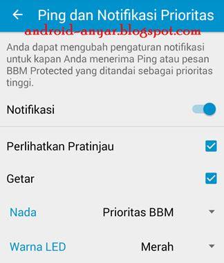Setelan Ping dan Notifikasi Prioritas BBM Android