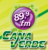 Estúdio ao vivo da Rádio Cana Verde FM de Siqueira Campos ao vivo
