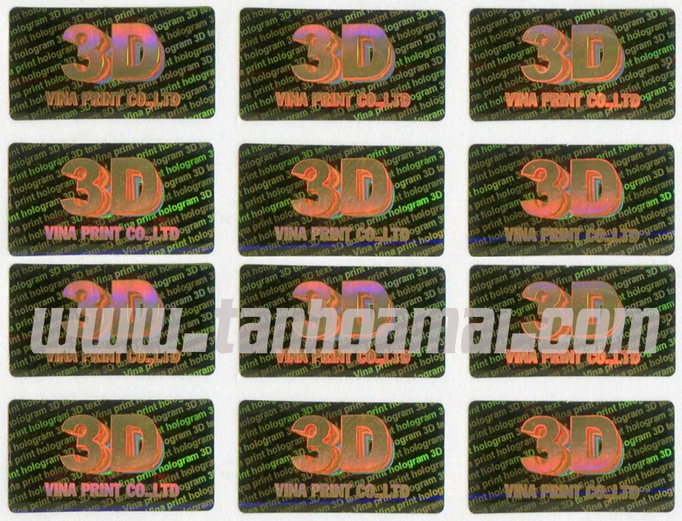 Tem chống hàng giả 3D