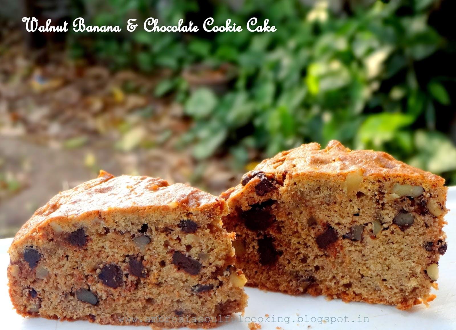 cake walnut chocolate cookie cake cookie hybrids banana walnut raisin ...