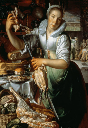 The Kitchen Maid, Joachim Wtewael