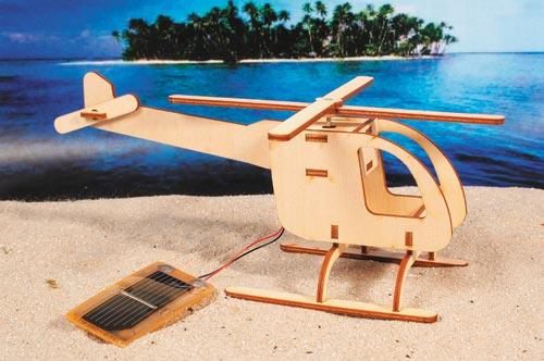 der experimentierkasten hubschrauber aus sperrholz mit solarrotor. Black Bedroom Furniture Sets. Home Design Ideas