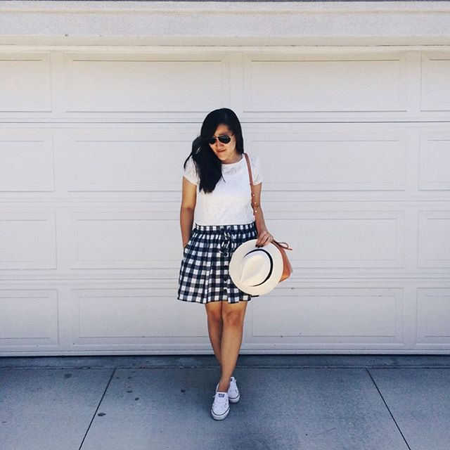 simplyxclassic, gingham, checkered skirt, gingham skirt, asos skirt, ocblogger, mommy blogger, style blogger, fashion blogger, preppy, summer,