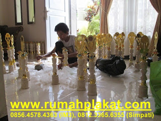 jual trophy marmer murah, piala marmer award, harga 1 set trophy marmer, 0856.4578.4363, www.rumahplakat.com