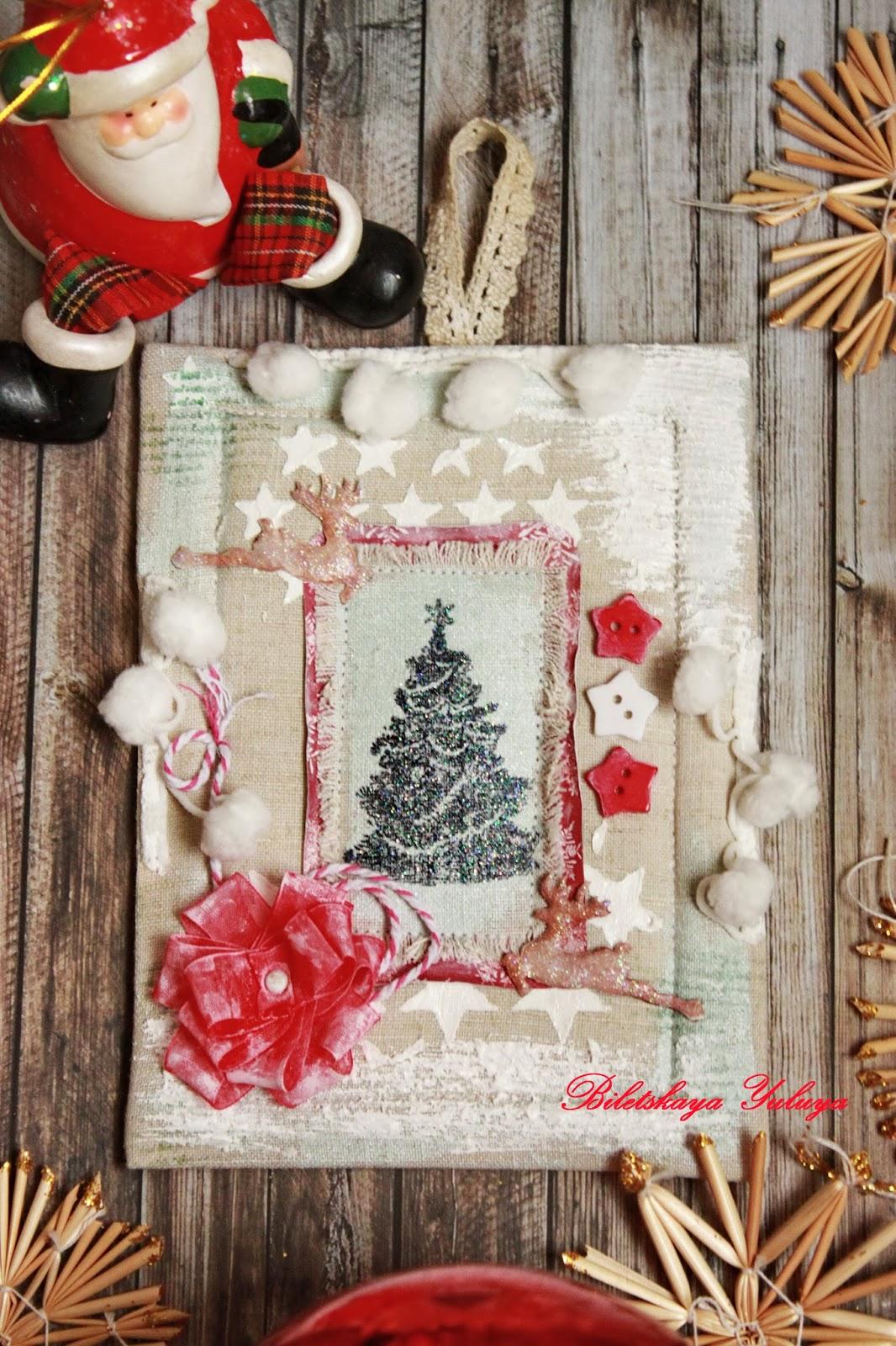 Панно рождественское своими руками